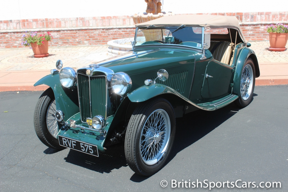 british sports cars 1948 mg tc for sale british sports cars san luis obispo ca. Black Bedroom Furniture Sets. Home Design Ideas